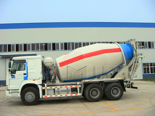 concrete batch truck