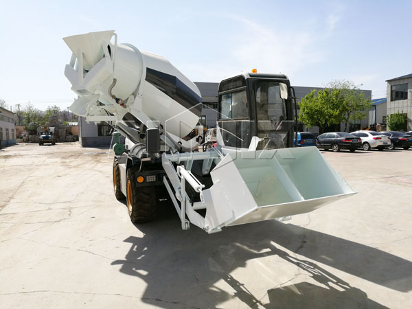 self-loading mobile concrete mixers truck