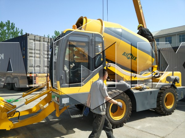 mobile self loading concrete mixer truck machine