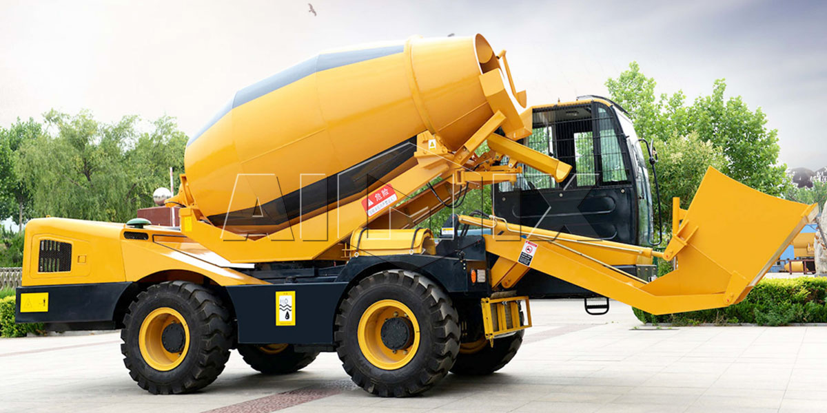 3.5 m³ self loading concrete mixer truck in aimix group
