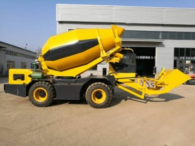 3.5 cub self loading concrete mixer