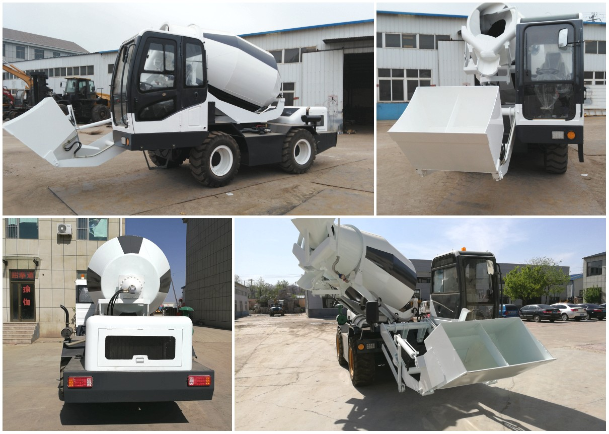 2.0 cub self loading concrete mixer in USA