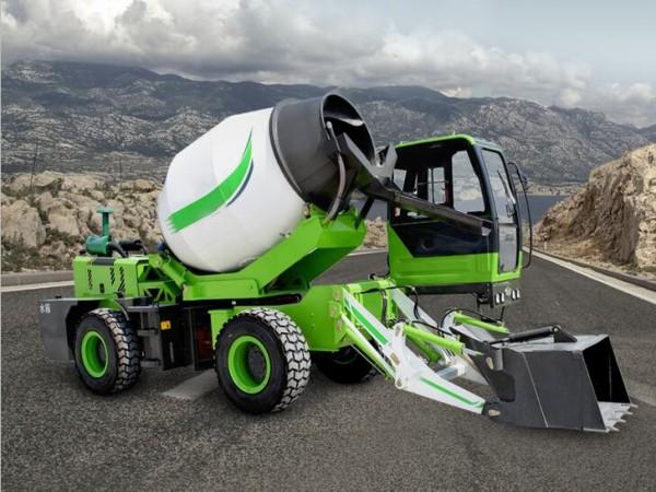 Self Loading Concrete Mixer Truck - 12-15 Minutes Finish Per