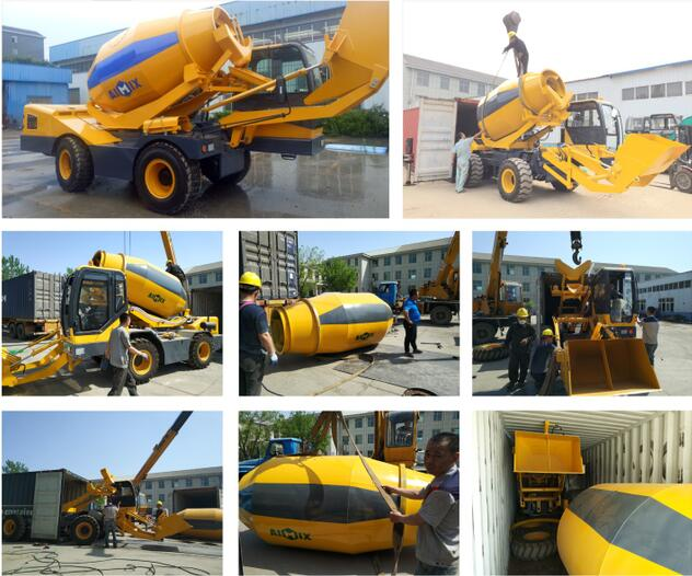 3.2 cub self loading concrete mixer to South Africa