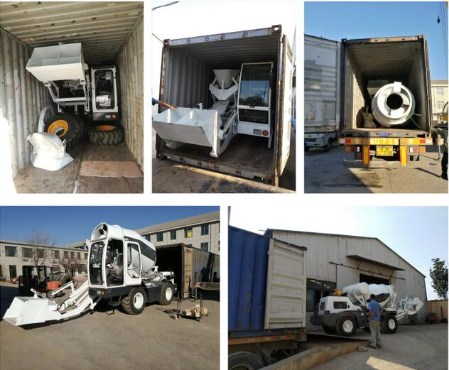 4.0 cub self loading concrete mixer to USA